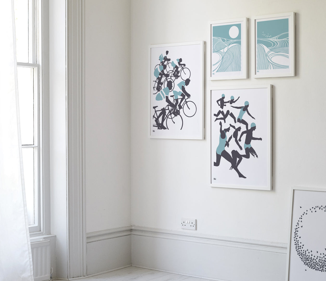 Wall Art Ideas: Economical Screen Prints, Harvest Field Swallows Art Print