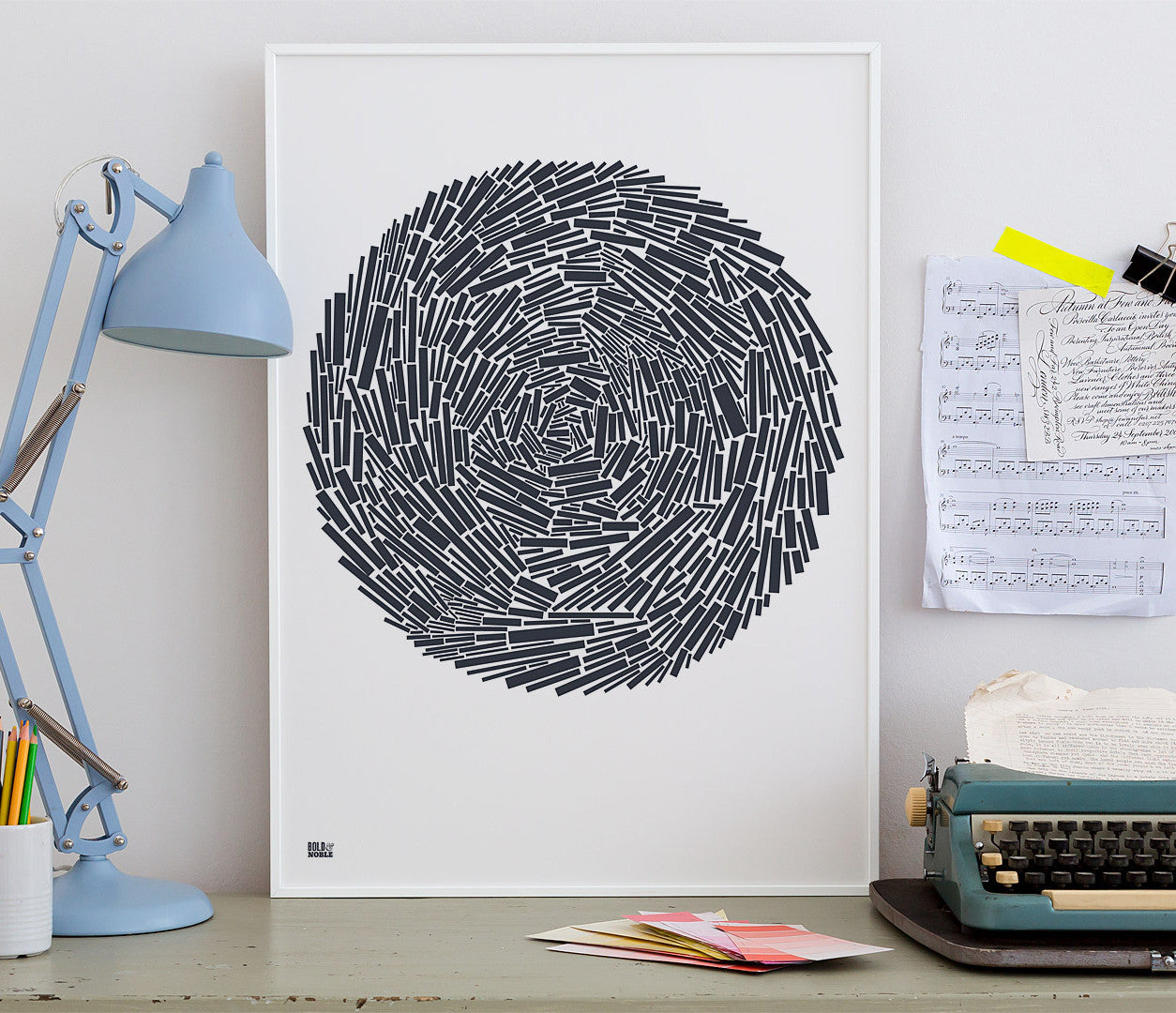 Wall Art ideas: Economical Screen Prints, Nest Print in Sheer Slate