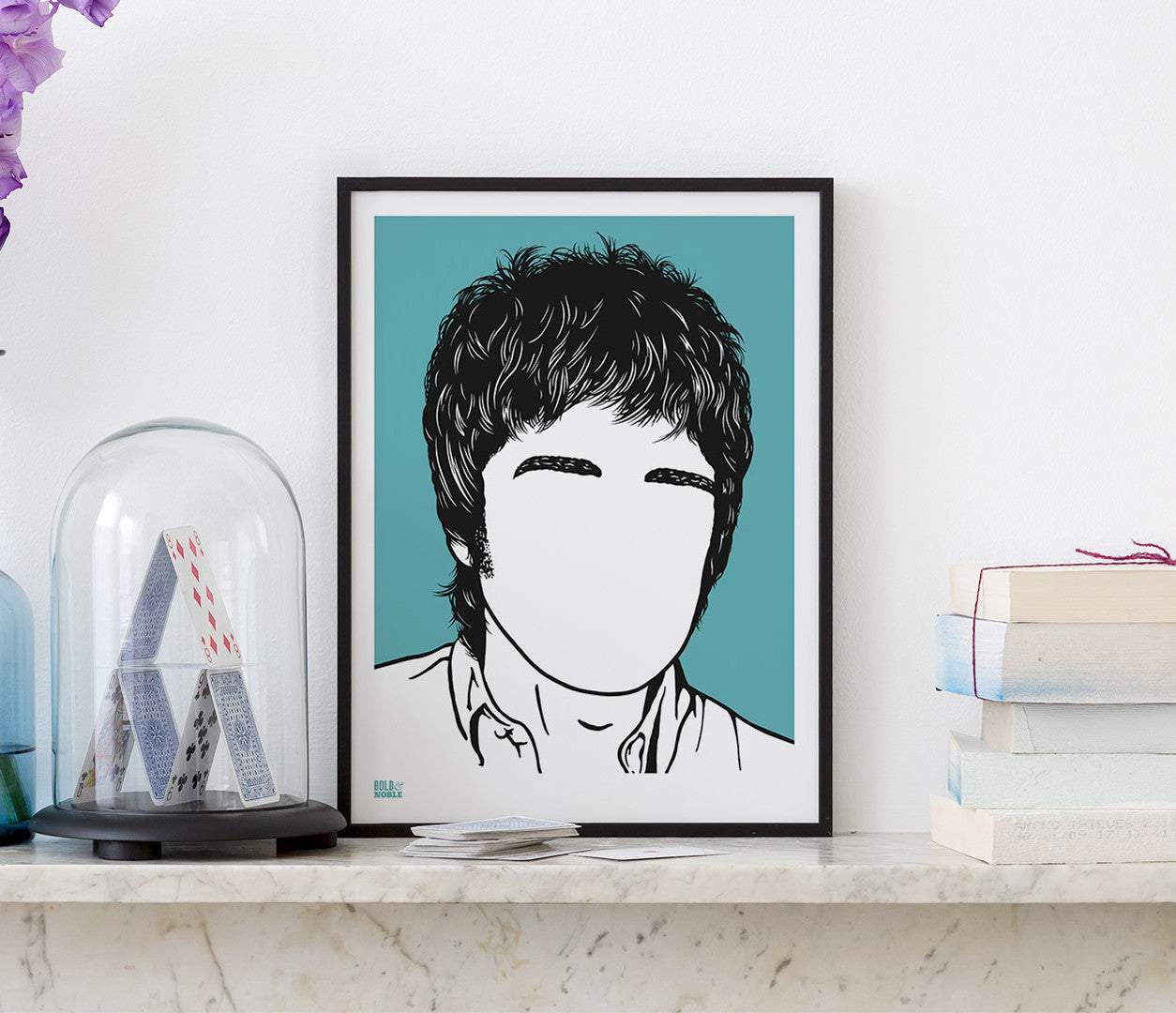 Wall Art ideas: Economical Screen Prints, Noel Gallagher Screen Print in blue