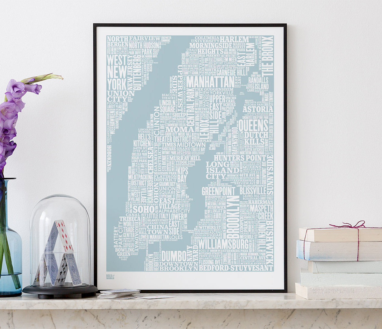 Wall Art ideas: Economical Screen Prints, NYC Screen Print in Duck Egg Blue