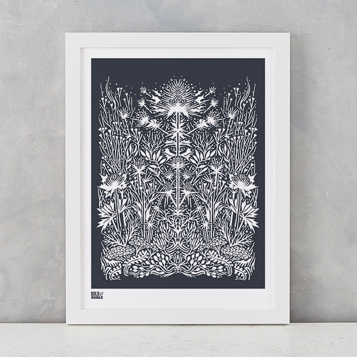 'Sea Holly' Art Print in Sheer Slate