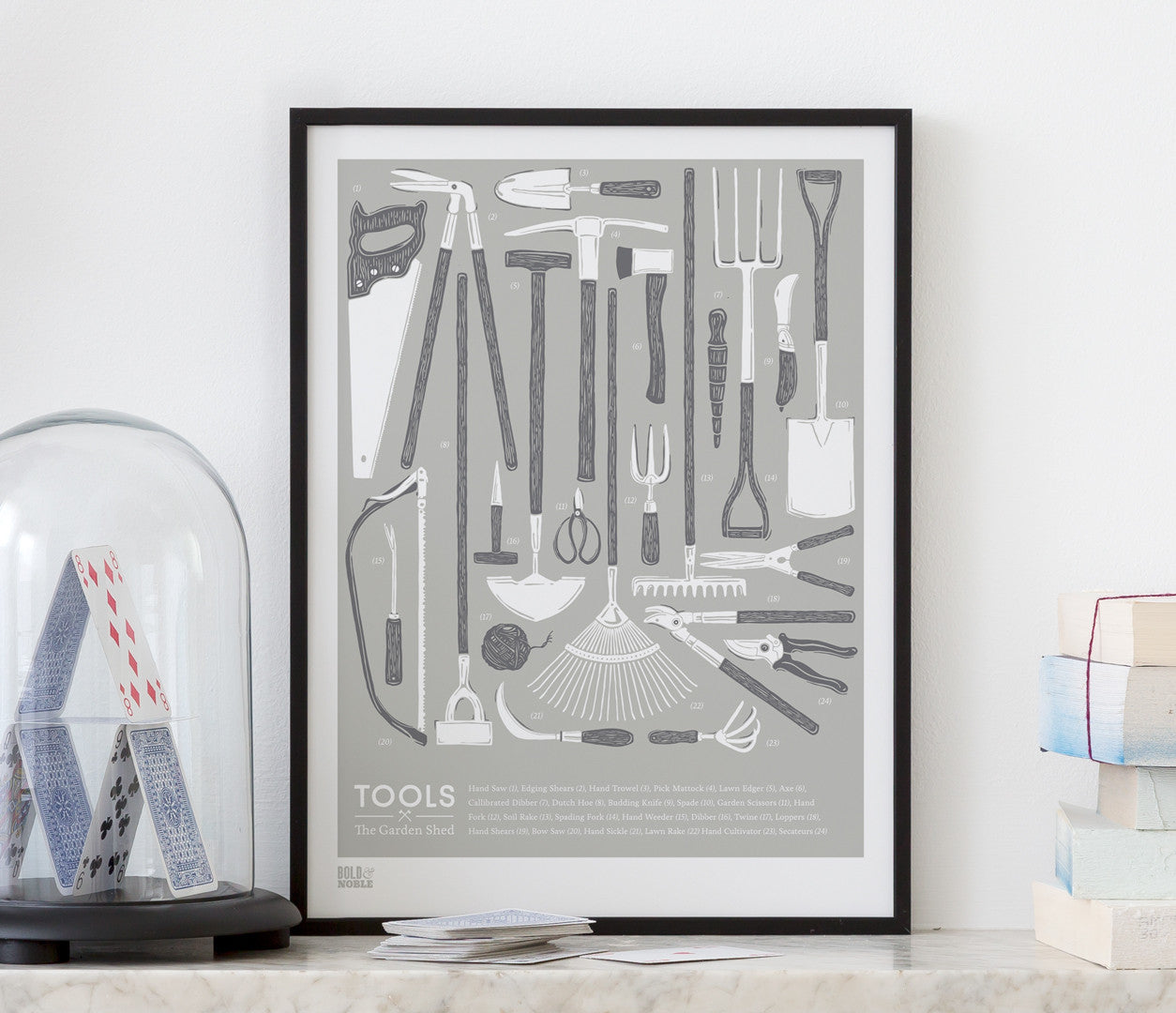 'Tools' The Garden Shed Print in Putty