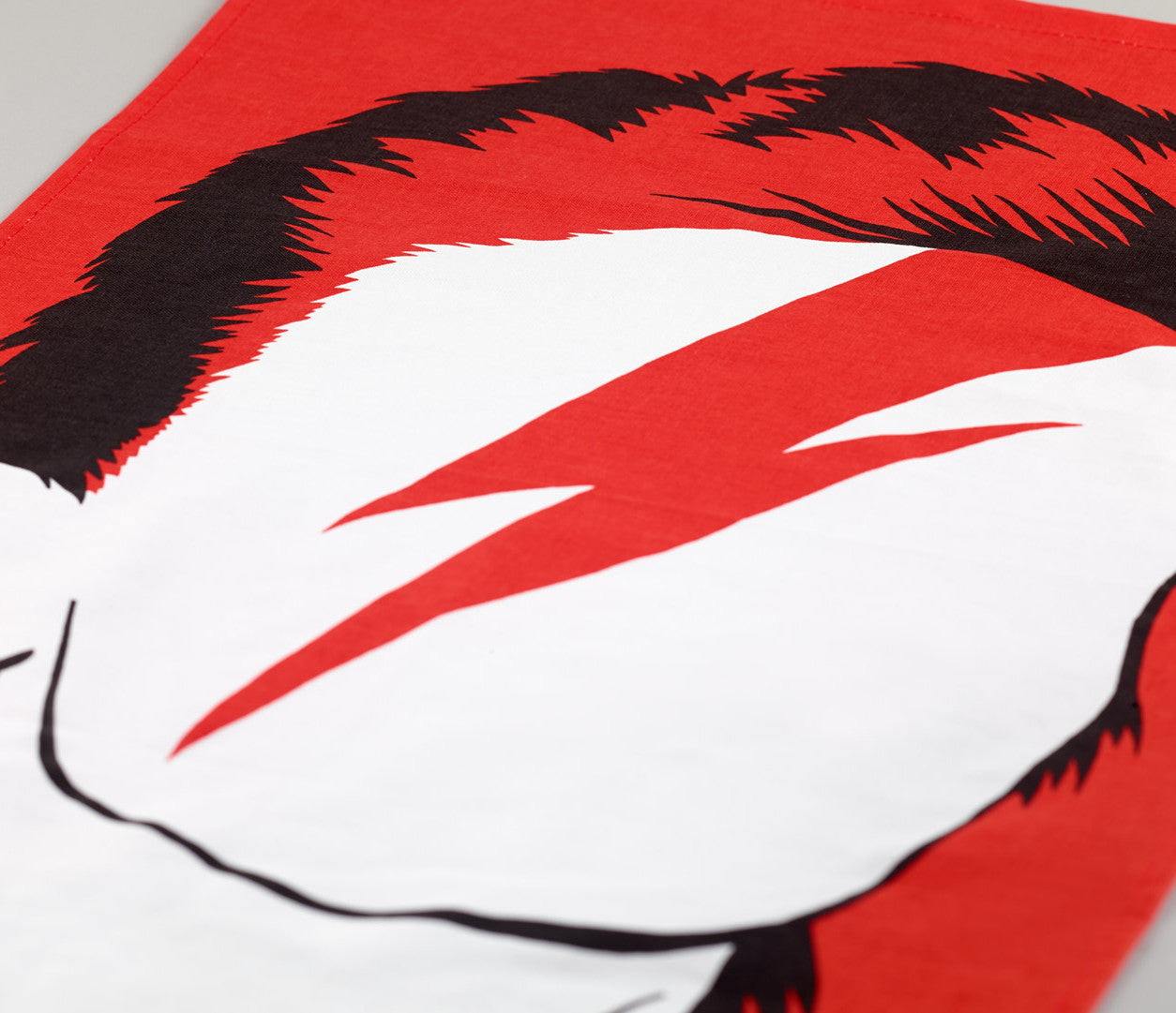 Close up of Rock Icon Tea Towel