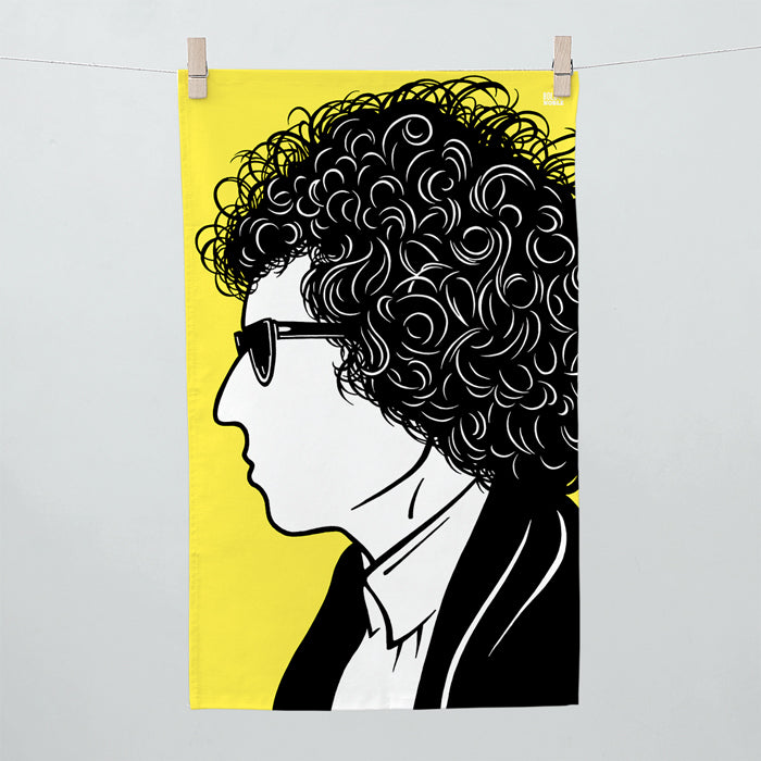 'Bob Dylan' Tea Towel