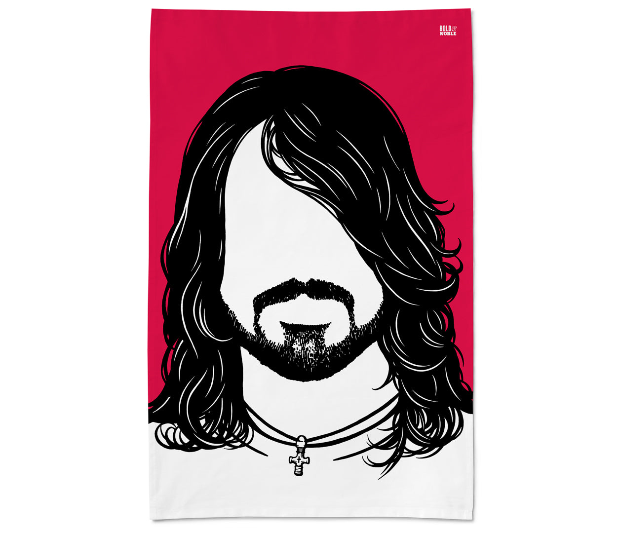Dave Grohl Rock Icon Tea Towel in Red