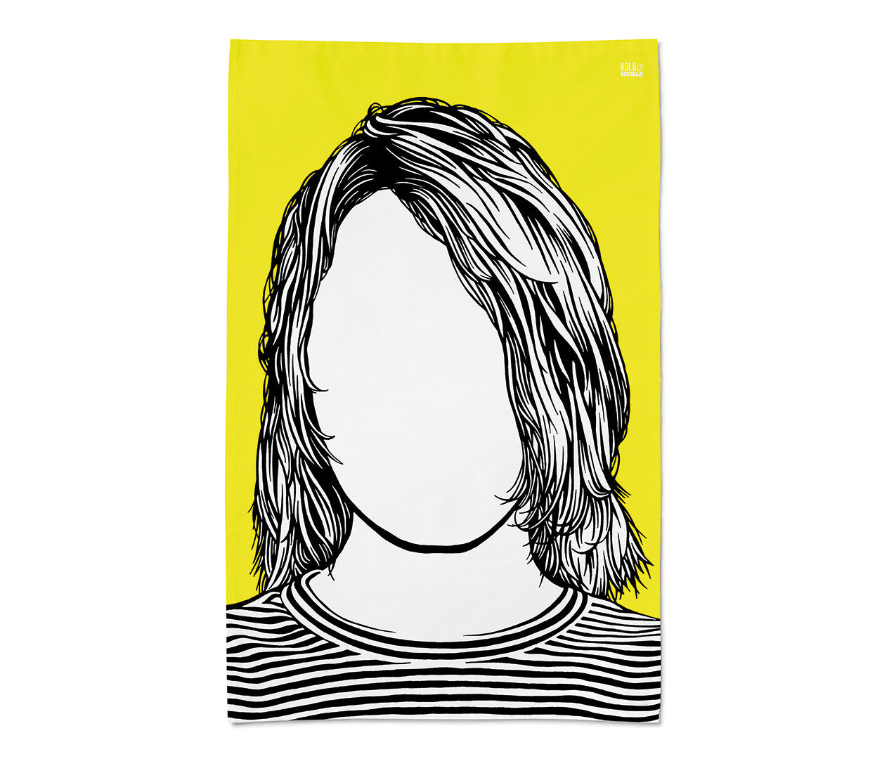 Kurt Cobain Nirvana Rock Icon Tea Towel in Yellow