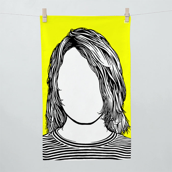 'Kurt Cobain' Nirvana Tea Towel