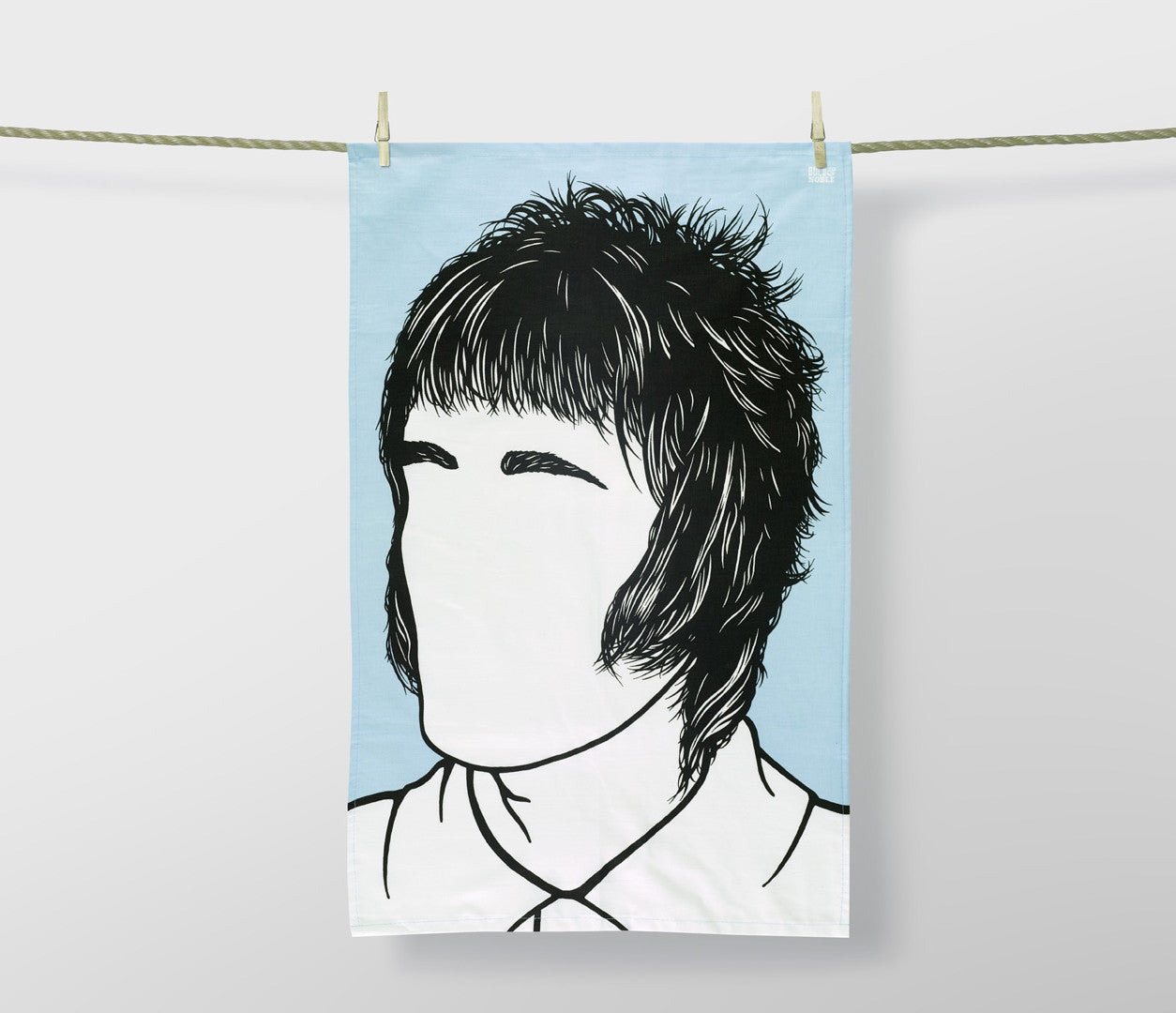 Rock Icons Tea Towels, Liam Gallagher Oasis Blue