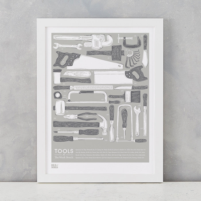 'Tools' The Work Bench Print in Putty