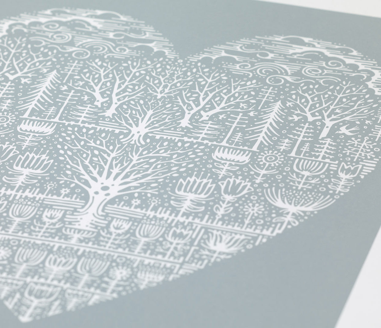 'Wild Wood' Art Print in Warm Grey