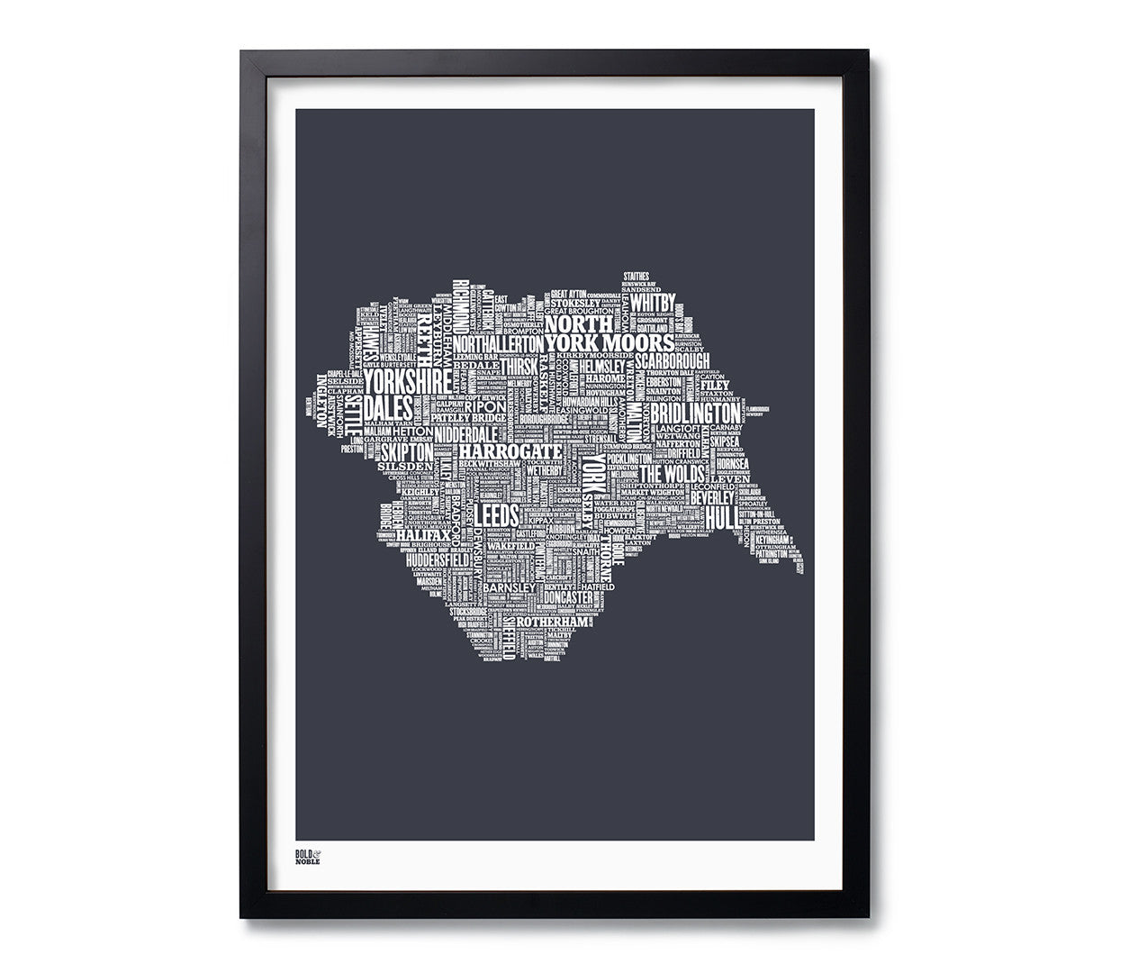 Yorkshire type map print in sheer slate bold noble save white gumiabroncs Image collections
