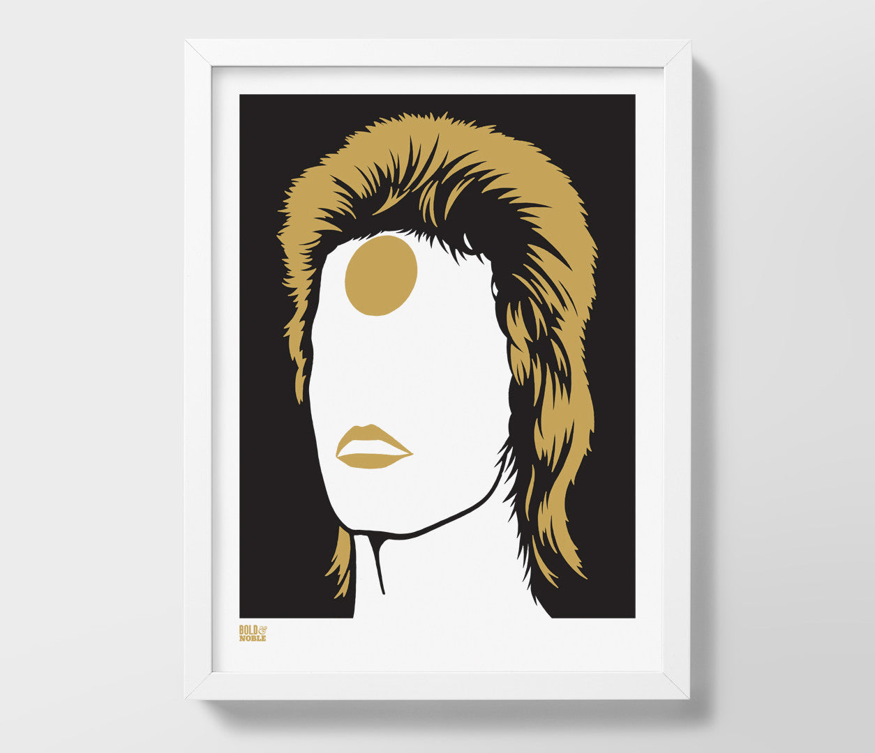'David Bowie, Ziggy Stardust' Print in Bronze