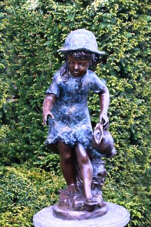 Bronze 'Girl with Water Can' 66cm