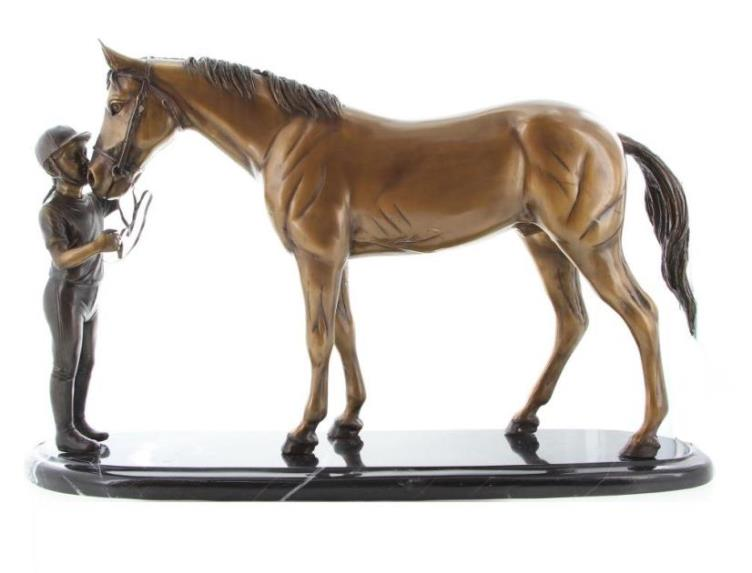 Bronze 'Nancy Kissing Horse' 36cm