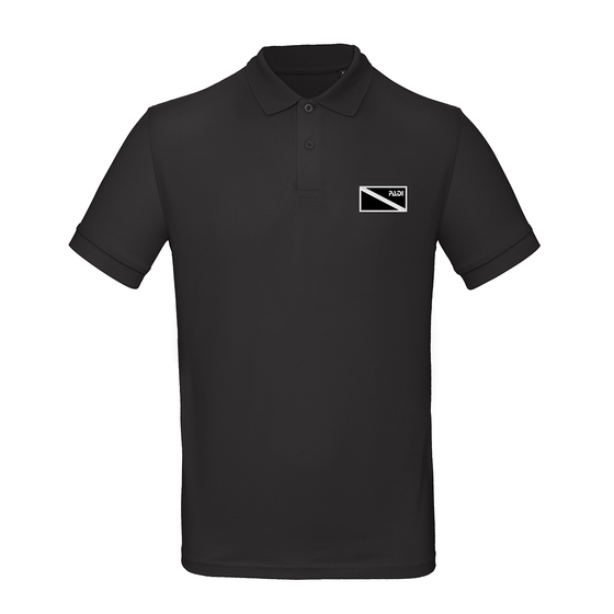 Men's Organic Black Diver Down Polo – Black