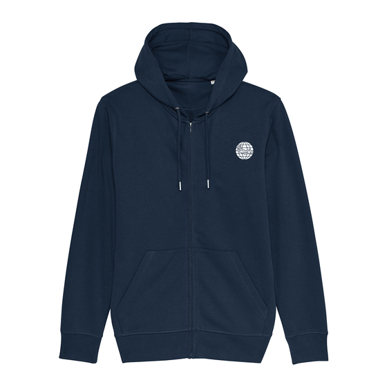 Torn Dive Flag Eco-Friendly Hoodie - Navy