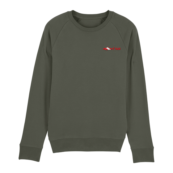 Dive Flag Shark Crewneck Eco-Friendly Sweatshirt – Khaki