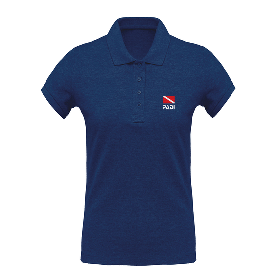 Women's Classic Dive Flag Eco-Friendly Polo - Ocean Blue Heather