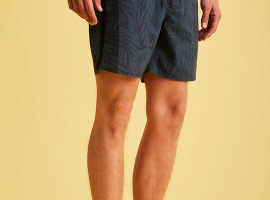 ECOALF Palm Tree Print Swim Shorts'Worton' -Blue
