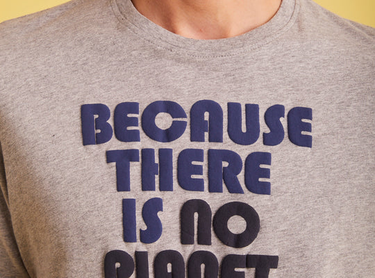ECOALF T-Shirt With Slogan 'Thomas' Heather Grey