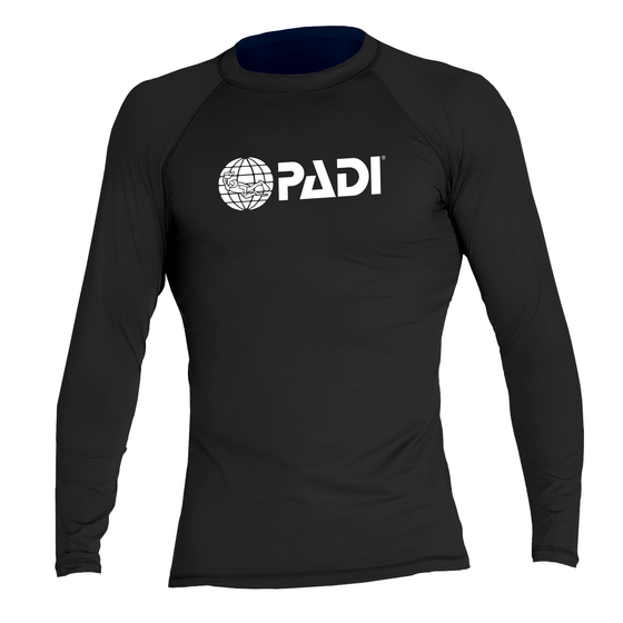 PADI Men's Rash Guard - Black