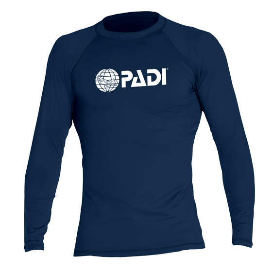 PADI Men's Rash Guard – Navy