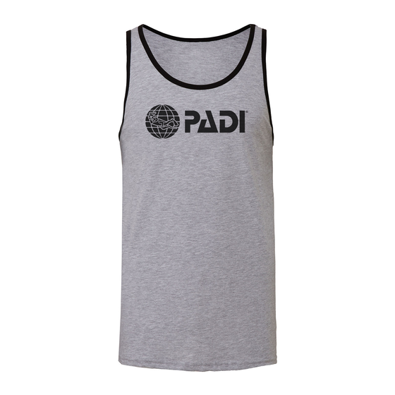Men's PADI Classic Logo Tank - Heather Grey