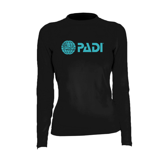 PADI Women's Rash Guard - Black