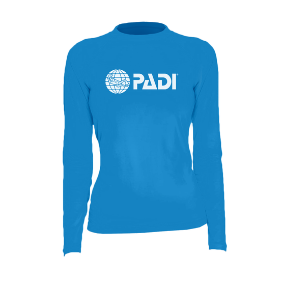 PADI Women's Rash Guard – Electric Blue