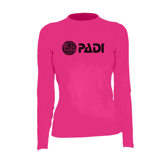 PADI Women's Rash Guard – Hot Pink