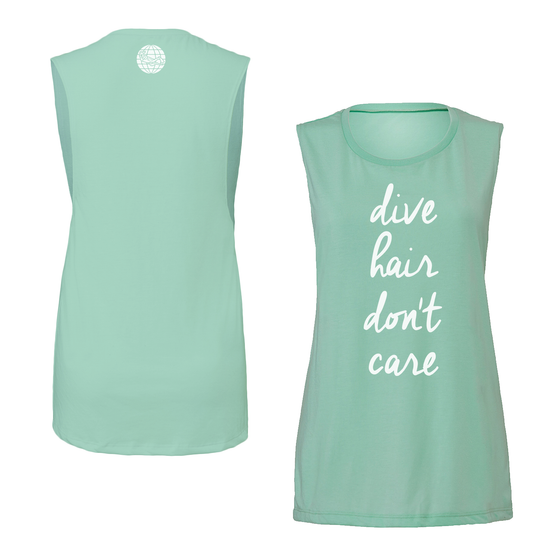 Women's Dive Hair Tee- Mint