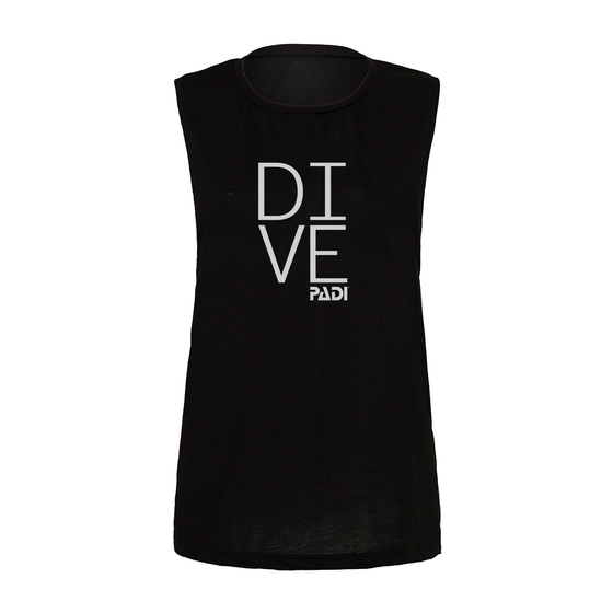 Women's PADI Dive Tank - Black