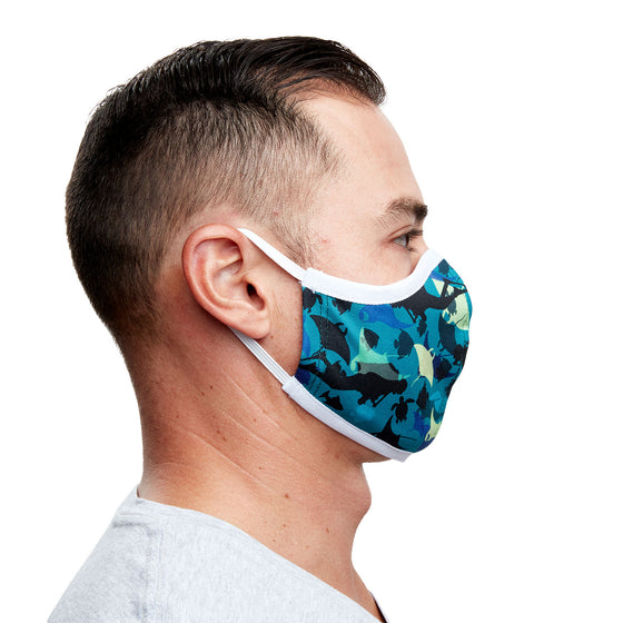 Manta Ray Recycled Plastic Cloth Face Mask + 5 Filters