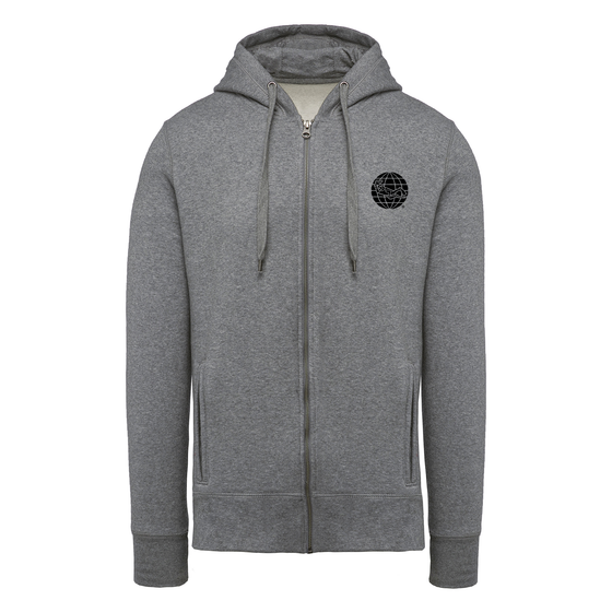 Diving Full Zip Hoodie - Heather Grey