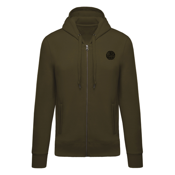 Diving Full Zip Hoodie - Green