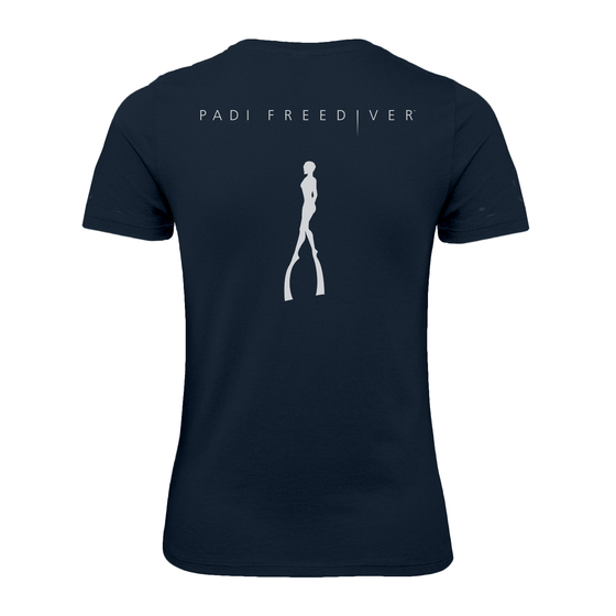 Women's Freediver V-neck Tee - Navy