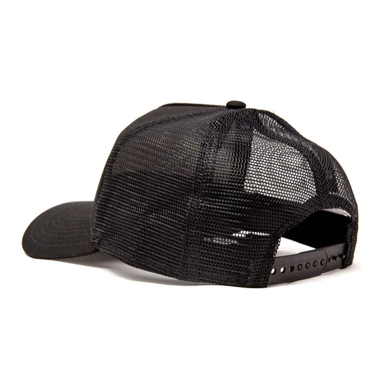 Diver Down Trucker Hat Black with Black/White Dive Flag