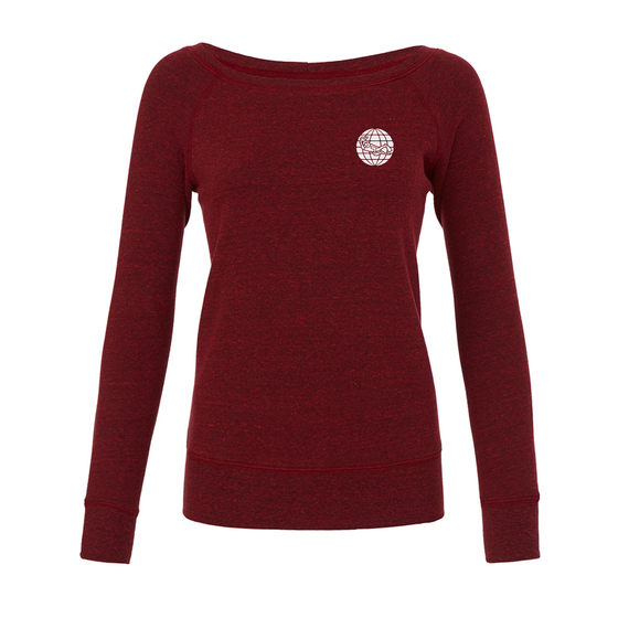 Women's Padi Globe Logo Sweatshirt- Red