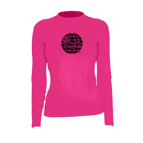 PADI Globe Women's Rash Guard – Hot Pink