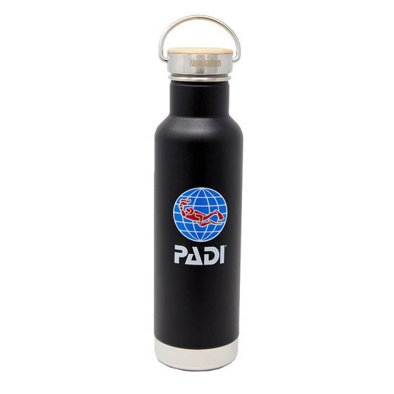 PADI X Klean Kanteen Insulated 20 oz Bottle - Matte Black
