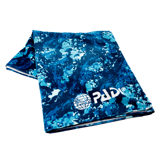 PADI X LEUS Ocean Blue Camo Eco-friendly Towel