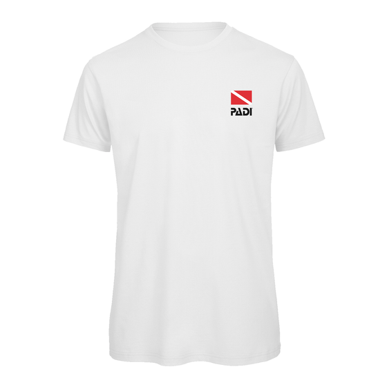 PADI Dive Flag Series Left Chest Print T-Shirt-White
