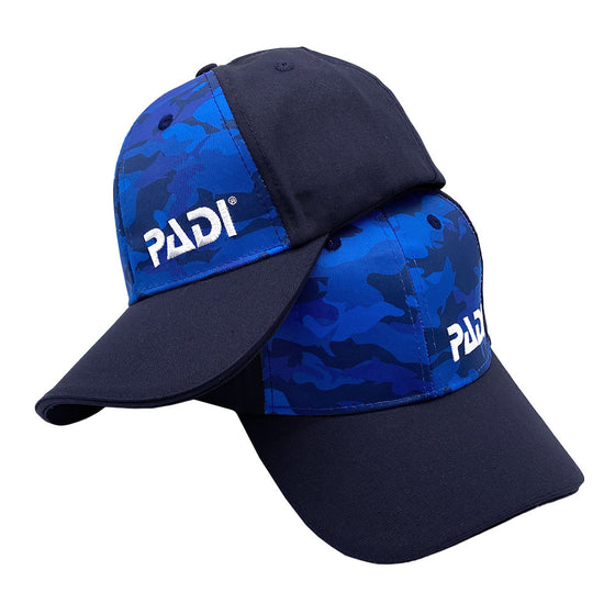 Recycled Plastic, PADI Blue Shark Camo Hat