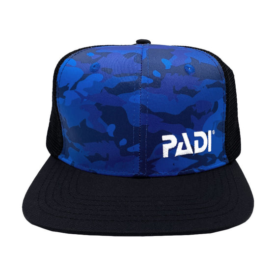 Recycled Plastic, PADI Blue Shark Camo Trucker