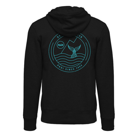 Women's Mermaid Zip Hoodie- Black