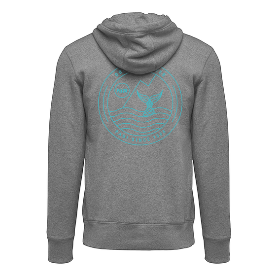 Women's Mermaid Zip Hoodie- Grey Heather