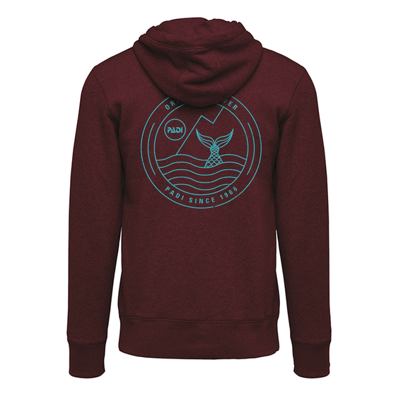 Women's Mermaid Zip Hoodie- Wine Heather