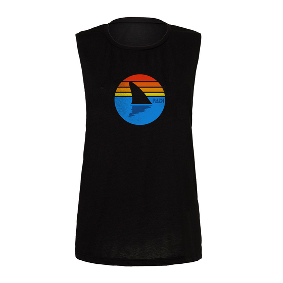 Women's Retro Shark Tank- Black