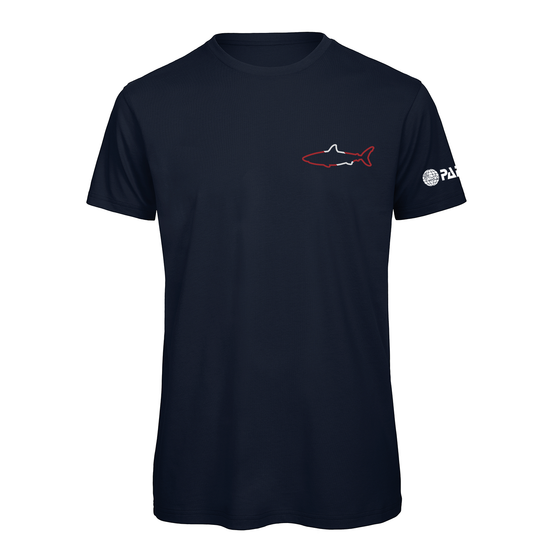 PADI Small Shark Outline Tee -Navy