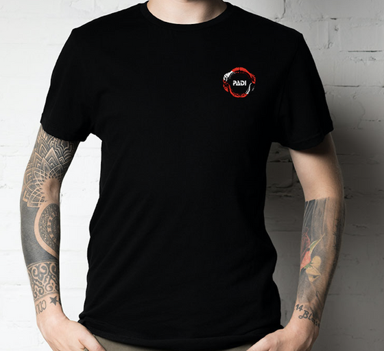 PADI Megalodon Dive Flag Black T-Shirt